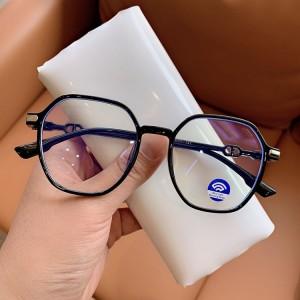 Blue Light Blocking Square Oversized Eyewear - Black