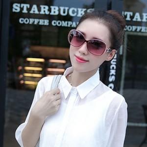 Newest Design Oversized Fashionable Sunglasses - Purple