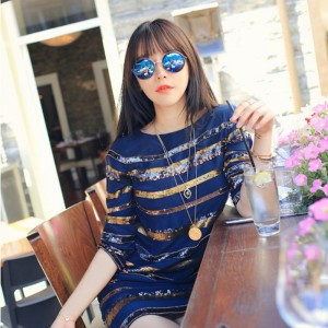Retro Trend Setter Versatile Fashion Sunglasses - Blue