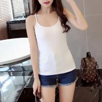 Cross Back Women Casual Wear Cotton Fabric Top T Shirt - White