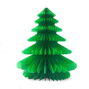 Honeycomb Paper Home Decoration Tree - Green