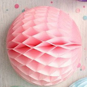 5 Pieces Pack Home Party Decoration Honeycomb Paper Ball - Pink