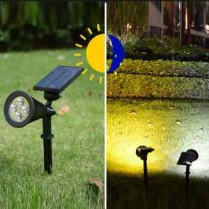 High Quality Outdoor Solar Sensor Water Proof Floor Lamp Light - Black