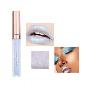 Long Lasting Solid Color Mermaid Lip Gloss 09 - White Silver