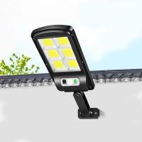 Outdoor Solar Sensor LED Street Light - Black