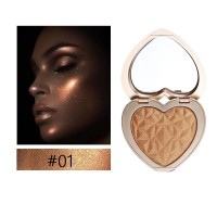 Heart Shape Facial Shimmer Powder Palette 01 - Golden