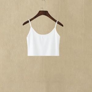 Women Casual Wear Cotton Fabric Top - White