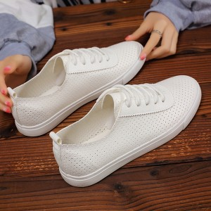 Hollow Flat Wear Breathable Sports Shoes - White