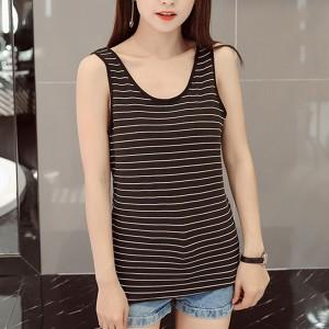 Women Casual Wear Cotton Fabric Top - Black