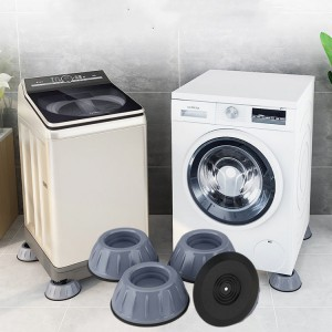 4 Pcs Moisture Skid Proof Base For Washing Machine Refrigerator - Gray