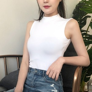 O Neck Body Fitted Sleeveless Summer Top - White
