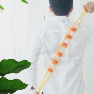 Multi Functional 6 Balls Strip Back Neck Waist Body Massager - Yellow