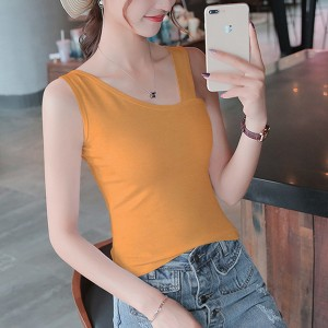 Slash Neck Body Fitted Solid Color Blouse Top - Yellow