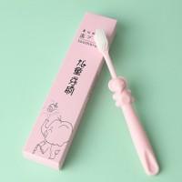 Cartoon Design Superfine Soft Toothbrush For Kids - Pink