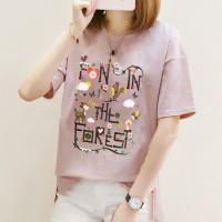 Alphabetic Printed Round Neck Full Sleeves T-Shirt