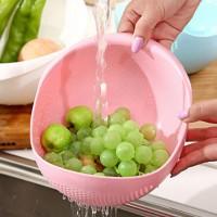 Multipurpose Rice Vegetable Colander Strainer Drain Basket - Pink