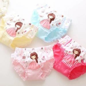 Printed Cute Four Pieces Girls Underwear Set