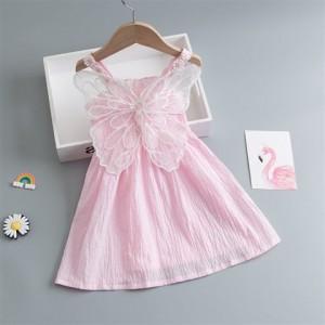 Princess Angels Wings Cute Girl Mini Dress - Pink
