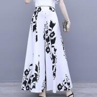 Floral Printed A-Line Women Fashion Skirt - White