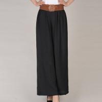 String Lace Closure A-Line Solid Color Formal Skirt - Black