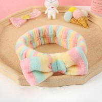 Women Soft Sweet Solid Color Hair band - Multicolor