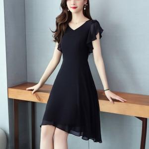 Elegant And Fashion High Quality Girls Dress - Black