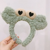 Funny Little Crab Use For Face Wash Makeup Women Hair Band - Green