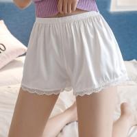 Elegant Stylish Breathable Ice Silk Women Shorts Pants - White