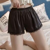 Elegant Stylish Breathable Ice Silk Women Shorts Pants - Black