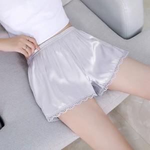 Elegant Stylish Breathable Ice Silk Women Shorts Pants - Gray