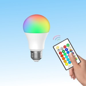 Screw Base 16 Color Changing Remote Control Led Light Bulb - White