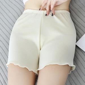 Elegant Stylish Breathable Middle Waist Women Shorts Pants - Skin