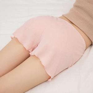Elegant Stylish Breathable Middle Waist Women Shorts Pants - Pink