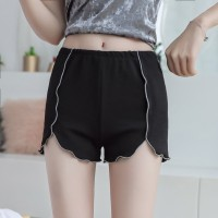 Elastic Waist Casual Wear Women Bottom Shorts - Black