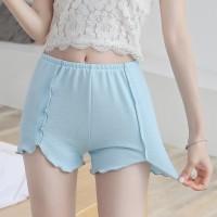 Elastic Waist Casual Wear Women Bottom Shorts - Sky Blue