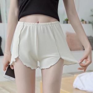 Elastic Waist Casual Wear Women Bottom Shorts - Skin