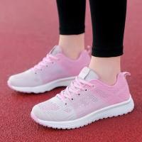 Mesh Breathable Flat Sole Sports Wear Sneakers - Pink