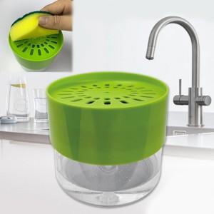 2 In 1 Sponge Rack Soap Dispenser - Green
