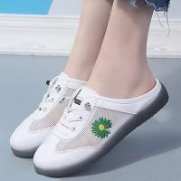 Mule Style Lace Closure Women Fashion Sneakers - Green