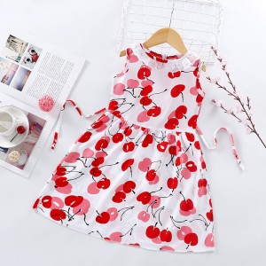 High Quality Fancy Clothing Beautiful Girls Dress - Red White