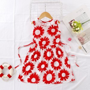 High Quality Fancy Clothing Beautiful Girls Dress - White Red