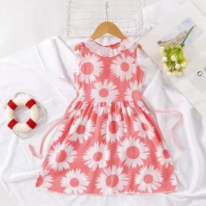 High Quality Fancy Clothing Beautiful Girls Dress - White Pink