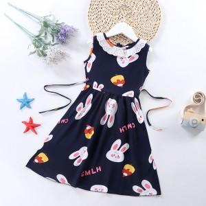 High Quality Fancy Clothing Beautiful Girls Dresses - Dark Blue