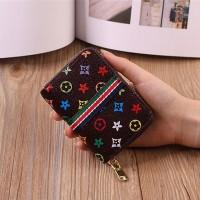Printed Zipper Closure Designers Printed Wallet - Multicolor