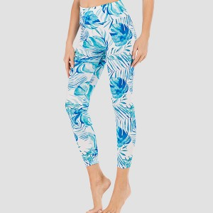 Leaves Printed Beach Wear Sexy Multi Occasion Fitted Trouser