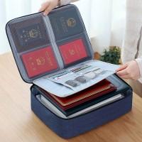 Zipper Closure Multi Purpose Passport And Diary Stationery Bags - Blue
