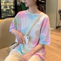 Multicolor Unicorn Gradient Printed Women Fashion Blouse Top - Multicolor