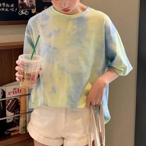 Multicolor Unicorn Gradient Printed Women Fashion Blouse Top - Green