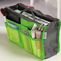 Nylon Zipper Mesh Traveller Bags - Green