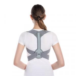 Back Shoulder Support Posture Corrector Belt - Gray